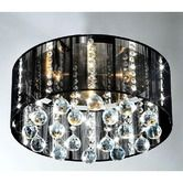 Found it at Wayfair - 5 Light Crystal Flush Mount. $135