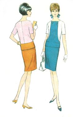 1960s Skirt Top #Pattern #McCall's #Vintage #Sewing
