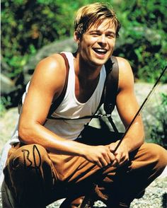 """A River Runs Through It""...good movie, and Brad at his prettiest"