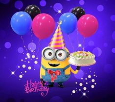 Take a look at the best Minion birthday quotes in the photos below and get ideas for your own birthday wishes! Happy Birthday Kind, Funny Happy Birthday Messages, Funny Happy Birthday Pictures, Happy Birthday Quotes, Happy Birthday Greetings, Funny Birthday, Cake Birthday, Birthday Kids, Minion Birthday Quotes