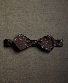 The Great Gatsby Collection Brown, Red and White Lattice Bow Tie