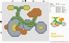 triciclo punto croce | Hobby lavori femminili - ricamo - uncinetto - maglia