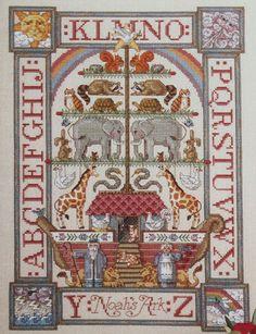 BH&G Victorian Feather Tree Noah's Ark Sunday's Toys Linen Cross Stitch Kit  #BetterHomesGardens #Sampler