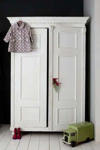 vintage armoire for a childs bedroom