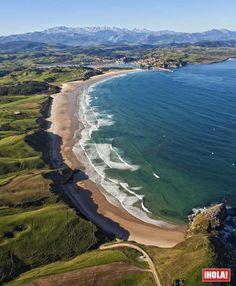 Playa de Garre, una de las más espectaculares de #Cantabria protegida por altas…