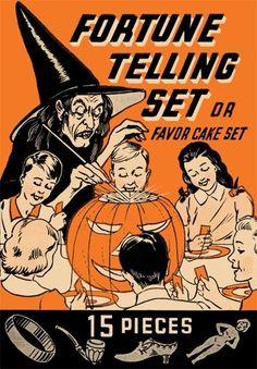 Vintage Halloween fortune telling set