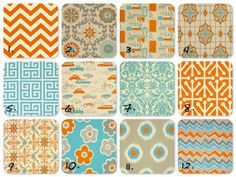 blue and orange fabric - Google Search