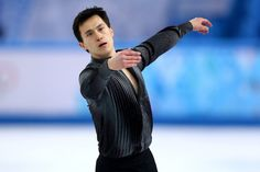 Patrick Chan of Canada competes during the Men's Figure Skating Short Program on day 6 of the Sochi 2014 Winter Olympics at the at Iceberg S...