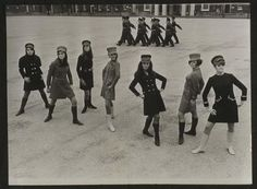 Revamp your wardrobe (Models display latest military-style fashion at parade ground, 1967, Roland Hicklin, National Media Museum)