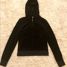 Juicy Couture jacket Real Juicy Couture original black velour jacket with gold design. Brand new never worn Juicy Couture Jackets & Coats