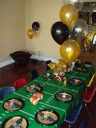 New Orleans Saints Birthday 5th Party