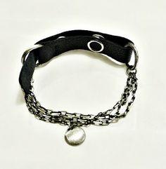 KSZU- Silver Chain & Leather [pr925] Leather Chain, Personalized Items, Silver, Jewelry, Jewlery, Jewerly, Schmuck, Jewels, Jewelery