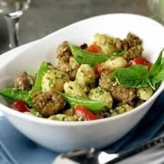 Creamy Pesto Gnocchi with Italian Sausage - Allrecipes.com