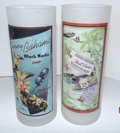 Tommy Bahama Frosted Highball Glasses Tumbler Blue Marlin Thrill seeker in Collectibles, Barware, Glasses, Cups, Mugs | eBay