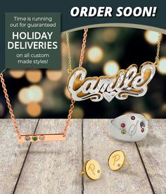 Time is running out on holiday deliveries! Custom-made styles are manufactured on-site to guarantee quality, so submit all personalized orders soon to ensure delivery in time for the holidays! #QualityGold #CustomMadeJewelry #HolidaySeason #HolidayShopping #ChristmasShopping #PersonalizedJewelry #CustomJewelry #LastMinuteGifts #GiftIdeas