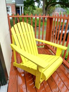 DIY: Adirondack chair