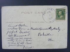 Alberta Minnesota MN Stevens County 1912 Type 3/2 Doane Cancel Antique Postcard