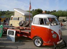 VW custom flatbed tow truck by Bagel!, via Flickr