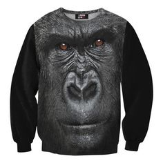 You talking to me? Gorilla Sweatshirt Unisex, $48, now featured on Fab.