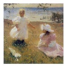Frank Weston Benson Prints | The Sisters, by Frank Weston Benson Print