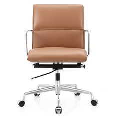m347 office chair in italian leather color options - Leather Office Chairs