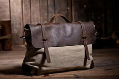 Highend leather bag unisex backpack, vintage leather backpack, canvas messenger, top quality clutch handmade backpack, street-attractive bag. $79,00, via Etsy.