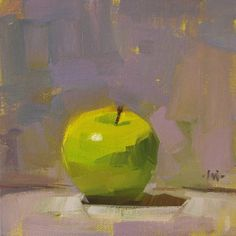 by Brooke {painting by Carol Marine} Things I tell myself when I eat apples I do not believe in the necessity of breaking teeth to eat an apple. Only in the necessity of breaking skin. There also c…