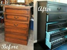 Thinking of doing this with an old desk I have and maybe the dressers in 2 rooms. So cool!