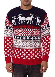 8b392e0e1bdd Noroze 70's Suéter Retro Navidad Prendas de punto Jerséis Cárdigan para  Hombre Unisexo
