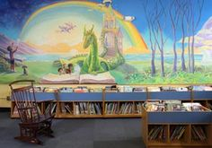 elementary library mural - Bing images