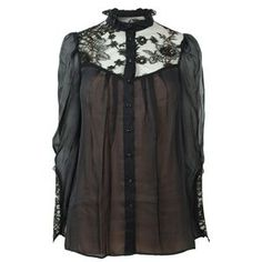 TEMPERLEY LONDON Silk Lace Victorian Shirt at Flannels Fashion