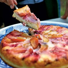 Plum Upside-Down Pudding Cake | Coastalliving.com