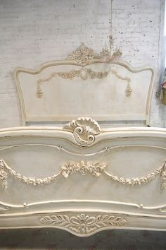 Painted Cottage Shabby French Romantic Bed by paintedcottages Shabby Chic Kitchen Decor, Shabby Chic Style, Shabby Chic Furniture, French Furniture, Furniture Logo, Furniture Ideas, Furniture Dolly, Steel Furniture, White Furniture