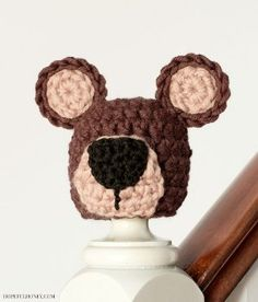Teddy Bear Crochet Hat - Inspired by Winnie the Pooh, this adorable Teddy Bear Crochet Hat is the perfect pattern to make for newborn babies (both boys and girls).