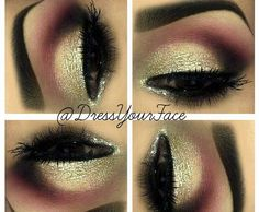 Smokey Pink and Gold Sparkle