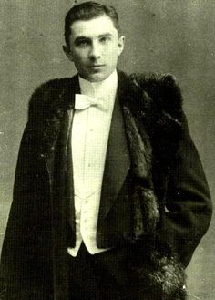 Bela Lugosi, famed actor from the 1931 version of Dracula, at age 18 (circa 1900)