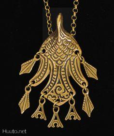 Uhtuan sotka Iron Steel, Steel Metal, Jewelry Box, Jewelery, Jewelry Making, Tattoo Inspiration, Finland, Art Nouveau, Scandinavian