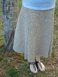 Taupe Facets Skirt by ashleyboccuti, via Flickr