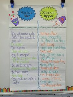 Bucket Fillers chart - Modify this for my high school students!