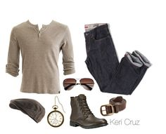 """""""Rugged"""" by keri-cruz ❤ liked on Polyvore featuring Crafted, Nanny State, Timberland and Ray-Ban"""