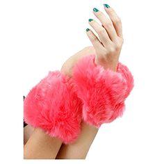 Pink Faux Fur Wrist or Ankle Warmer Beatnix Fashions