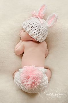 1 pcs baby' Photography Props Infant rabbit girl Crochet Knit Beanie Animal…