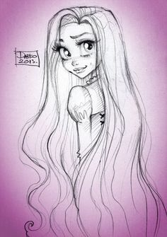 Disney Princess Rapunzel by *darkodordevic on deviantART
