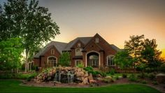 Perfect suburban mansion