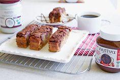 This Chocolate Swirl Banana Bread with Organic Hazelnut Spread is both gluten free and dairy free!