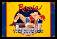 Rosie Riveter Greg Hildebrandt Metal Sign Pinup Sexy Hand Signed Free Print | eBay