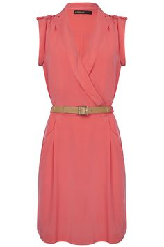 Dusty Dress Hot Coral