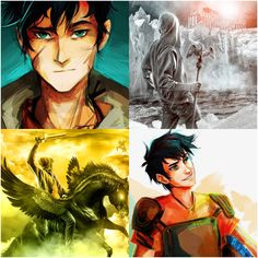 Happy birthday to the Son of Poseidon/Neptune and hero of Olympus: Percy Jackson!!! (18/08/2016) (Art by Viria and Italian book covers of Son of Neptune and Mark of Athena)