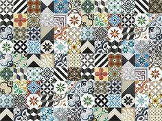 Textures Texture seamless | Patchwork tile texture seamless 16821 | Textures - ARCHITECTURE - TILES INTERIOR - Ornate tiles - Patchwork | Sketchuptexture