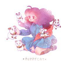 Bee and puppycat   kimboris:  I really love drawing Puppycat! Love Drawings, Bravest Warriors, Unique Art, Nerd Stuff, Sword, Bee, Concept Art, Nerdy, Fanart